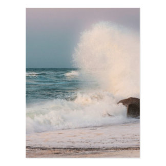 Crashing wave postcard
