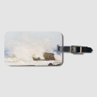 Crashing waves luggage tag