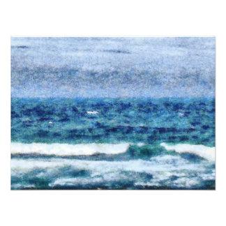 Crashing waves photo art