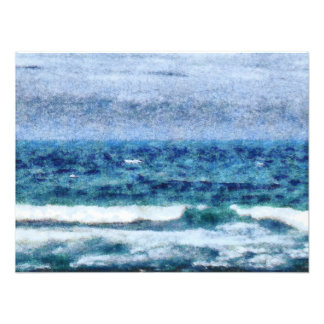 Crashing waves art photo
