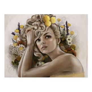 """Craspedia"" Postcard of Painting"