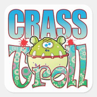 Crass Troll Square Sticker