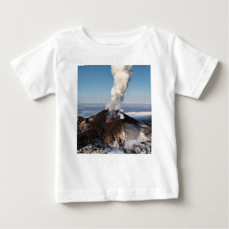 Crater eruption volcano: lava, gas, steam, ashes baby T-Shirt