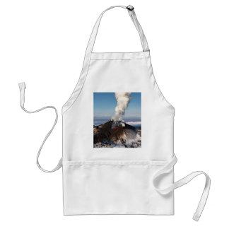 Crater eruption volcano: lava, gas, steam, ashes standard apron