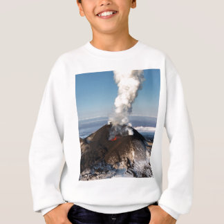 Crater eruption volcano: lava, gas, steam, ashes sweatshirt