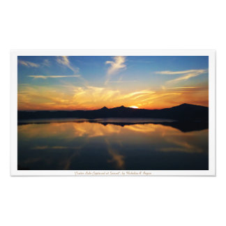 """Crater Lake Captured at Sunset"" Nature Photograph"
