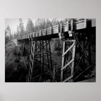 CRATER LAKE - GOODBYE CREEK BRIDGE POSTER