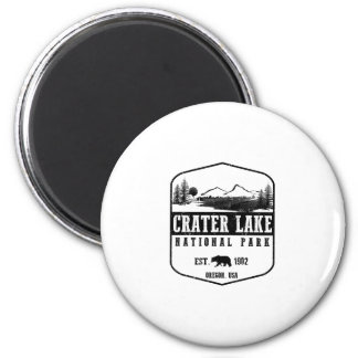 Crater Lake National Park 6 Cm Round Magnet