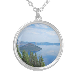 Crater Lake National Park Silver Plated Necklace