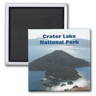 Crater Lake National Park Travel Photo Square Magnet