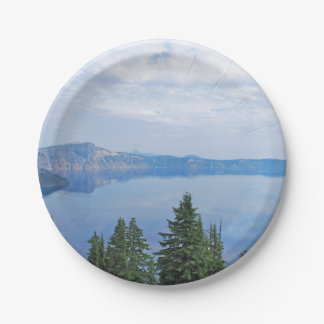 Crater Lake Oregon Paper Plate