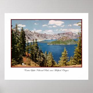 Crater Lake Oregon Poster