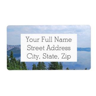 Crater Lake Oregon Shipping Label