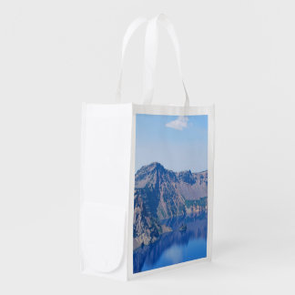 Crater Lake Phantom Ship Reusable Grocery Bag