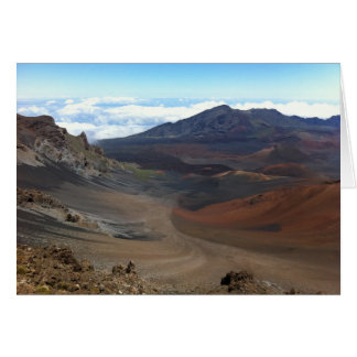 Crater of Haleakala Volcano, Maui, Hawaii Card
