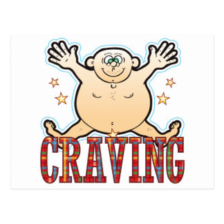 Craving Fat Man Postcard