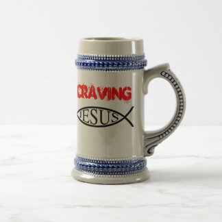"Craving Jesus ""The Cold One"" Beer Steins"