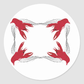 Crawfish Base Classic Round Sticker