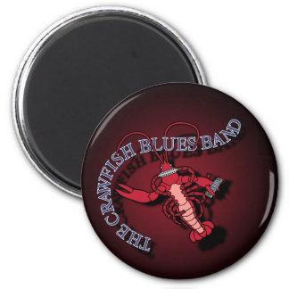 Crawfish Blues Band Harmonica 6 Cm Round Magnet