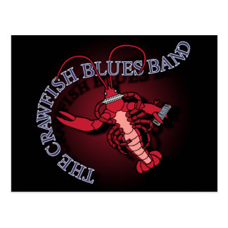 Crawfish Blues Band Harmonica Postcard