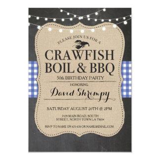 Crawfish Boil BBQ Any Age Birthday Lobster Invite