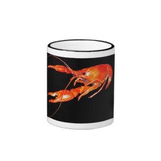crawfish-fleur-de-lis coffee cup ringer coffee mug
