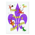 Crawfish Fleur de Lys Party Invitation
