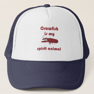 Crawfish Is My Spirit Animal Funny Cajun Hat