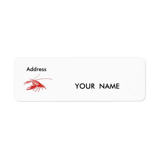 crawfish , Label