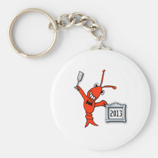 Crawfish / Lobster 2013 Cheers Basic Round Button Key Ring