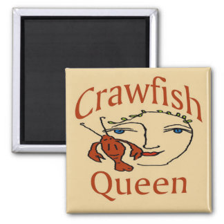 Crawfish Queen Abstract Square Magnet
