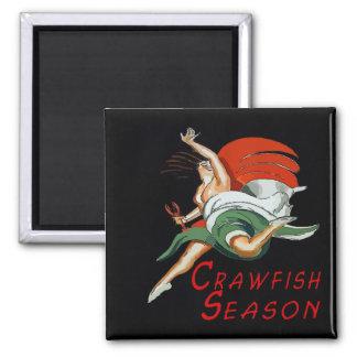 Crawfish Season, Joy of Dance 2 Inch Square Magnet