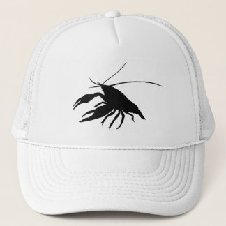 crawfish's silhouette (black) trucker hat