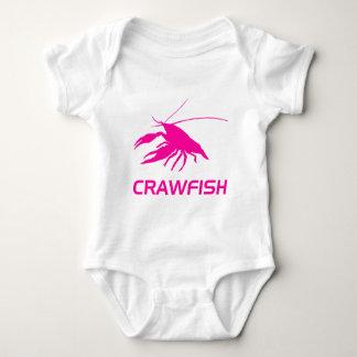 crawfish's silhouette (Pink) Baby Bodysuit