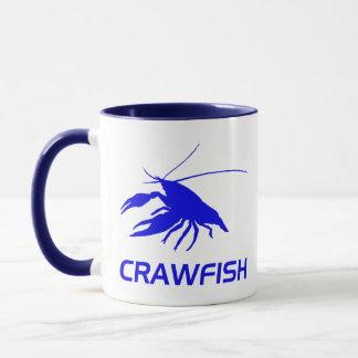 crawfish's silhouette (Red) Mug