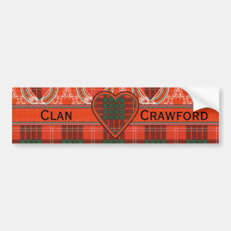 Crawford clan Plaid Scottish tartan Bumper Sticker