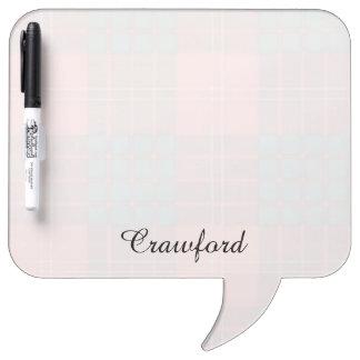 Crawford clan Plaid Scottish tartan Dry Erase Boards