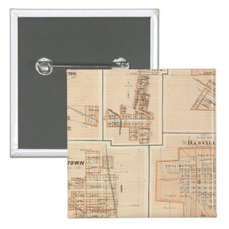 Crawfordsville, Montgomery Co with Brownsburg 15 Cm Square Badge
