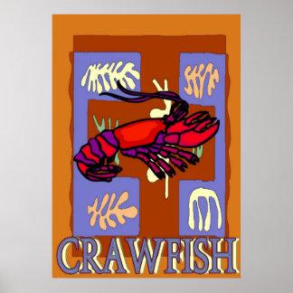 Crawfrish After Matisse Poster