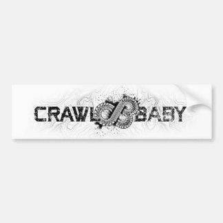 Crawl Baby Bumper sticker