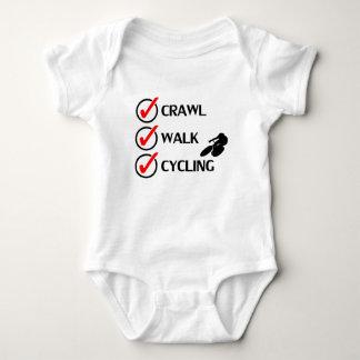 Crawl Walk Cycling Baby Bodysuit