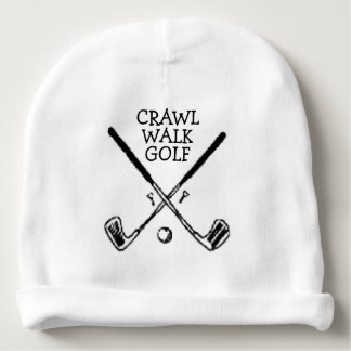Crawl Walk Golf Golfer Golfing Baby Beanie