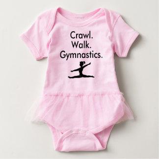 Crawl Walk Gymnastics Gymnast Baby Bodysuit