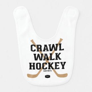 Crawl Walk Hockey Funny Infant Bib