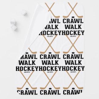 Crawl Walk Hockey Infant Baby Receiving Blanket
