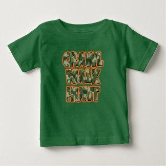 Crawl Walk Hunt baby boy shirt camo