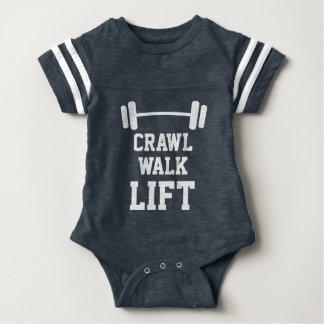 CRAWL WALK LIFT sport jersey bodysuit for new baby