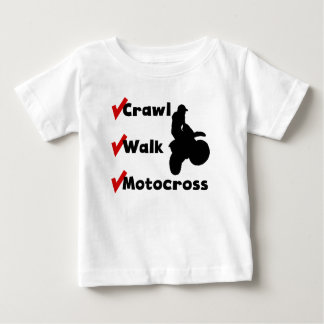 Crawl Walk Motocross Baby T-Shirt