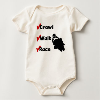 Crawl Walk Race Baby Bodysuit