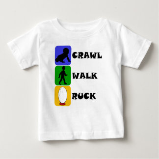 Crawl Walk Ruck Baby T-Shirt